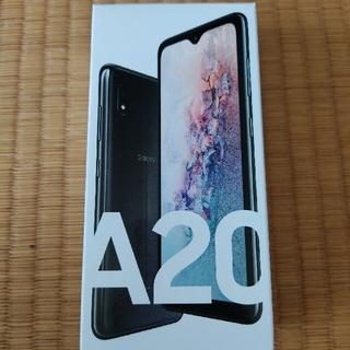 SAMSUNG - 1年保証あり simフリー Galaxy A20 SCV46 黒 ブラック 楽天