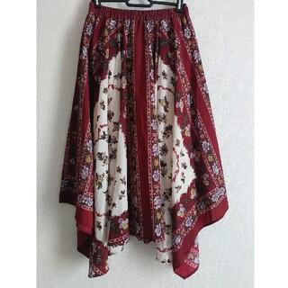axes femme - スカーフ柄 イヘレムスカート