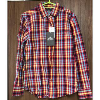 ヴィヴィアンウエストウッド(Vivienne Westwood)のヴィヴィアン 新品メンズチェックシャツ48サイズ(シャツ)