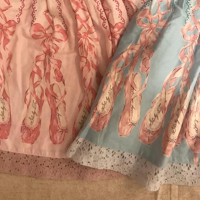 Shirley Temple(シャーリーテンプル)のシャーリーテンプル 110 トゥシューズプリント ワンピース セット キッズ/ベビー/マタニティのキッズ服女の子用(90cm~)(ワンピース)の商品写真