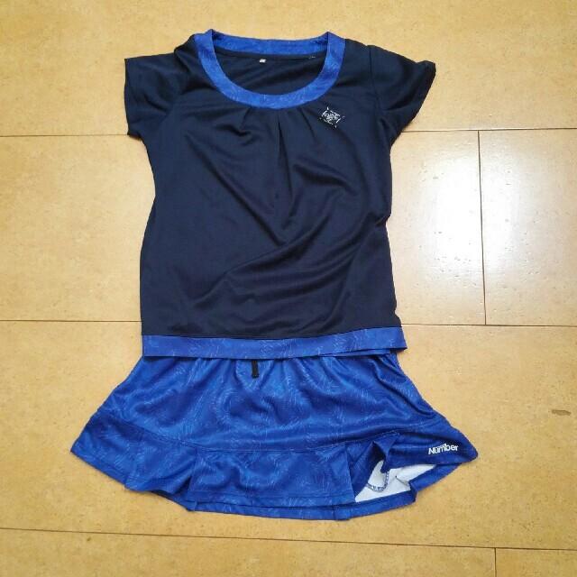 number テニスウェア 上下セットアップ M  スポーツ/アウトドアのテニス(ウェア)の商品写真