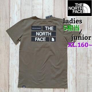 THE NORTH FACE - 【海外限定】TNF レディース ジュニア  背中ロゴ カーキ XL 160-