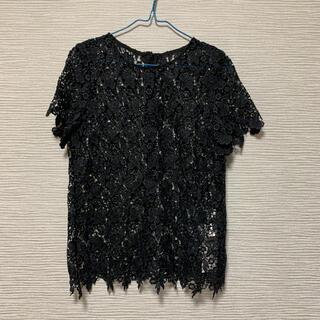 ルシェルブルー(LE CIEL BLEU)の新品未使用 ルシェルブルーの花柄半袖トップス(シャツ/ブラウス(半袖/袖なし))