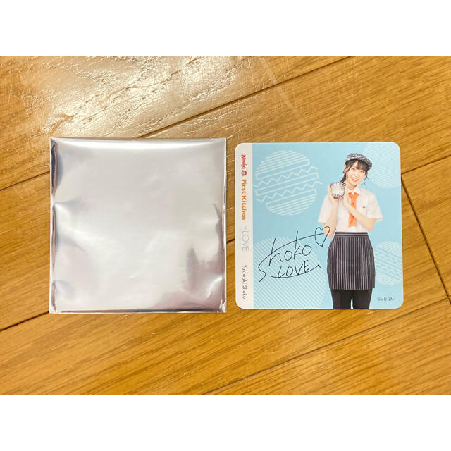◻️【 瀧脇笙古 】ファーストキッチン コースター エンタメ/ホビーのタレントグッズ(アイドルグッズ)の商品写真