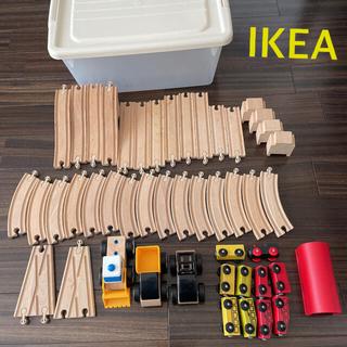 イケア(IKEA)のIKEA★イケア★木のおもちゃ★木製★電車★汽車★車★レール★線路★セット(電車のおもちゃ/車)