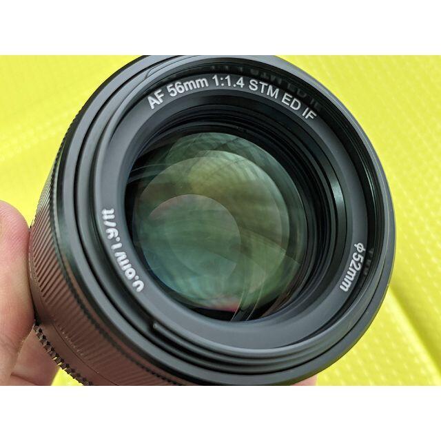 【8/15迄】VILTROX 56mm F1.4 Xマウント レンズフィルター付 スマホ/家電/カメラのカメラ(レンズ(単焦点))の商品写真