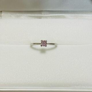 天然 ピンクダイヤモンド プラチナリング