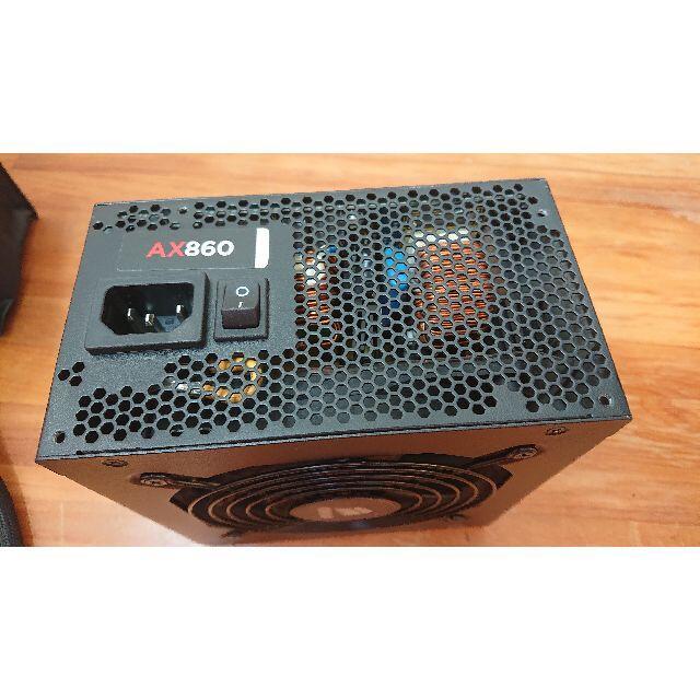 CORSAIR AX860(美中古) 動作確認済み スマホ/家電/カメラのPC/タブレット(PCパーツ)の商品写真