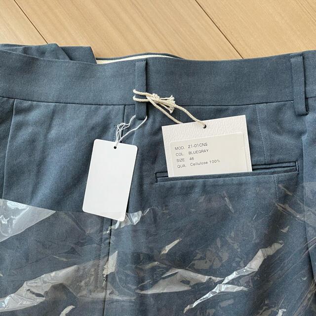 COMOLI(コモリ)のneatセルロースニドム46スタンダード ブルーグレー メンズのパンツ(スラックス)の商品写真