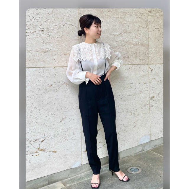 IENA(イエナ)のVERMEIL par iena Frenchレース シアーブラウス レディースのトップス(シャツ/ブラウス(長袖/七分))の商品写真