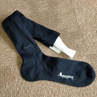 アクアスキュータム(AQUA SCUTUM)のアクアスキュータム Aquasqutum靴下 ブラック(ソックス)