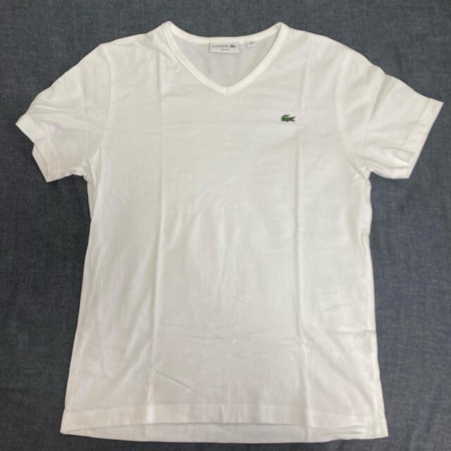 LACOSTE(ラコステ)の正規品 未使用 ラコステ 白 Tシャツ メンズのトップス(Tシャツ/カットソー(半袖/袖なし))の商品写真