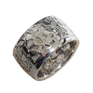 ルイヴィトン(LOUIS VUITTON)のヴィトン グランドバーグ・バンドーリング 指輪 リング シルバー Au750 (リング(指輪))
