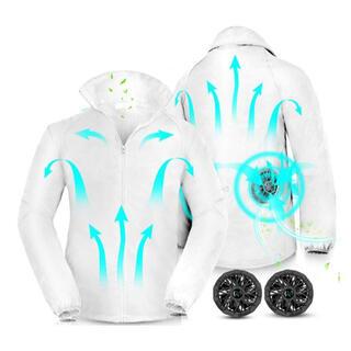 新品 Mサイズ 空調服 ファン付き空調ウェア 扇風ウェア 作業着 高強度生地