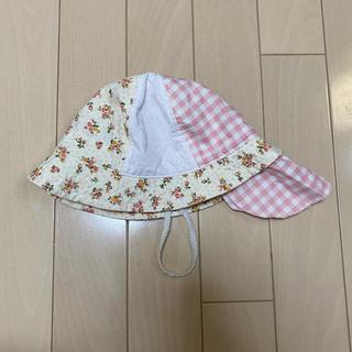 ニシマツヤ(西松屋)の日除け付き帽子 46cm 50cm 2枚セット(帽子)