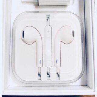 アップル(Apple)の新品 アップル純正イヤホン iPhone 6 付属品 ジャックタイプ(ヘッドフォン/イヤフォン)