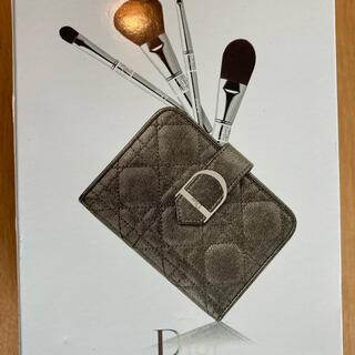 Christian Dior - 新品 クリスチャン ディオール メイク ブラシ セット 鏡ポーチ付き