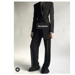 celine - peter do 19aw tuxedo pants black