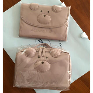 gelato pique - ジェラート ピケ Bear母子手帳ケースMサイズ&ベアオムツポーチ