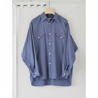 COMOLI - COMOLI 21AW ヨリ杢ワークシャツ サイズ3 ブルー 新品未使用
