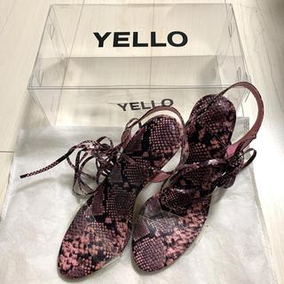 イエローブーツ(Yellow boots)のYELLO サンダル パイソン(サンダル)