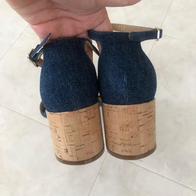 Salvatore Ferragamo(サルヴァトーレフェラガモ)のフェラガモ Salvatore Ferragamo デニムサンダル レディースの靴/シューズ(サンダル)の商品写真