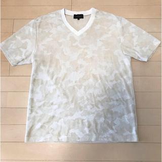 アバハウス(ABAHOUSE)のアバハウス パイル地 カモフラVネックTシャツ(Tシャツ/カットソー(半袖/袖なし))