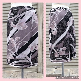 レオナール(LEONARD)の💗 レオナール  ⭐︎ 綿100% スカート  ⭐︎ グレー系 ⭐︎ 40  (ひざ丈スカート)