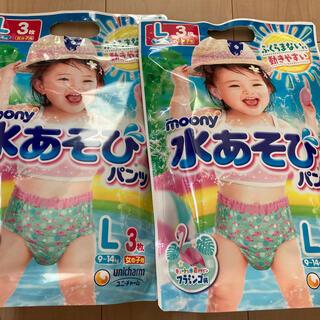 水遊びパンツ ムーニー Lサイズ 女の子 6枚(その他)