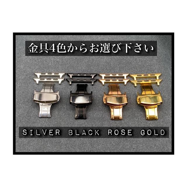 Apple Watch(アップルウォッチ)のnewレッド アップルウォッチ用ラバーバンド バタフライバックル付き メンズの時計(ラバーベルト)の商品写真