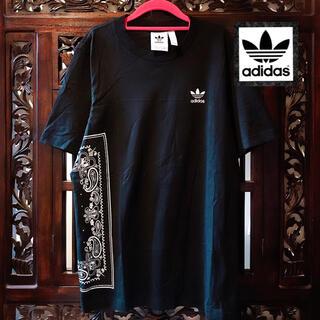adidas - アディダス 大きめサイズ 黒 ペイズリー Tシャツ タンクトップ ジャージ