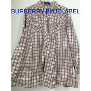 BURBERRY BLUE LABEL - BURBERRY BLUELABEL フレアシャツ