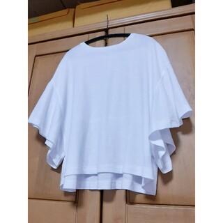 GU - GU カットソー 半袖 白 ホワイト ジーユー
