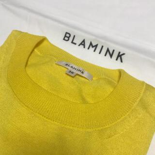 ブラミンク BLAMINK 半袖コットンニット