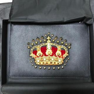 DOLCE&GABBANA - 【新品】定価11万 ドルチェ&ガッバーナ 王冠パッチ クラッチバッグ