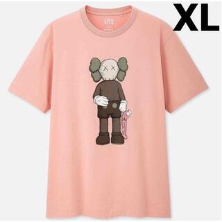 UNIQLO - 【ユニクロ】カウズ Tシャツ限定商品ピンク★kaws完売商品レア希少限定