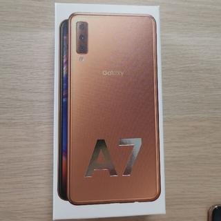 SAMSUNG - Galaxy A7 楽天モバイル (ゴールド)