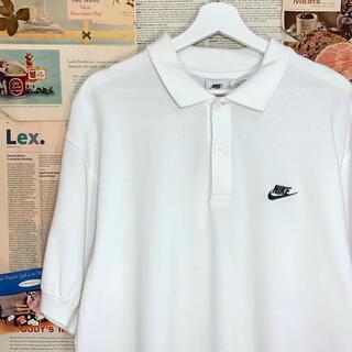 ナイキ(NIKE)の古着 NIKE ナイキ ポロシャツ ワンポイント 刺繍 オーバーサイズ ビッグ(ポロシャツ)