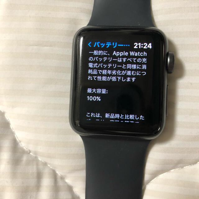 Apple Watch(アップルウォッチ)のAPPLE WATCH3 38 SGAL BK130-200 201809 メンズの時計(腕時計(デジタル))の商品写真