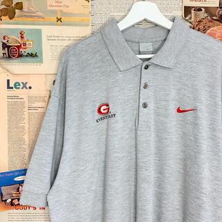 ナイキ(NIKE)の古着 NIKE ナイキ ポロシャツ ビッグ オーバーサイズ 刺繍(ポロシャツ)