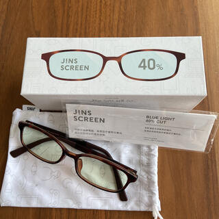 ジンズ(JINS)のJINS ブルーライトカットメガネ 40%カット 度なし(サングラス/メガネ)