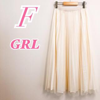 グレイル(GRL)のGRL グレイル プリーツスカート シフォンロングフレア ホワイト(ロングスカート)