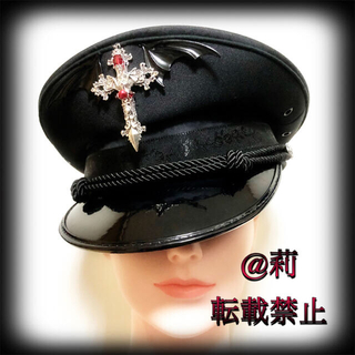 多色展開 -Diabolos-軍帽 ポリスハット カスタム軍帽 悪魔 十字架(キャスケット)