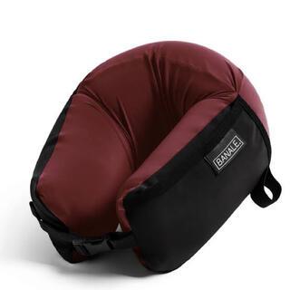 BANALE バナーレ 低反発 携帯枕 ネックピロー オムニピロー ワインレッド(旅行用品)