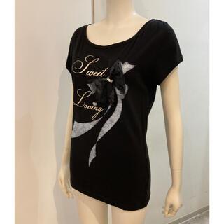 アプワイザーリッシェ(Apuweiser-riche)のアプワイザーリッシェ Tシャツ M   ブラック(Tシャツ(半袖/袖なし))