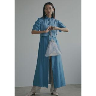 アメリヴィンテージ(Ameri VINTAGE)のAMERI VEST SET SHEER DRESS(ロングワンピース/マキシワンピース)