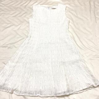 ティティアンドコー(titty&co)のtitty&Co   ワンピース White  Ssize(ミニワンピース)