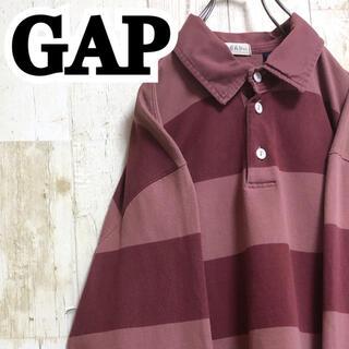 GAP - 【ギャップ GAP】【太ボーダー】【くすみカラー】【ラガーシャツ/シャツ】