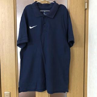 ナイキ(NIKE)のNIKE   ポロシャツ M    綿100  %   紺色(ポロシャツ)