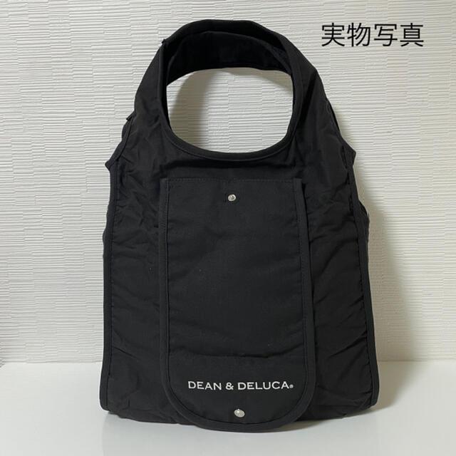 DEAN & DELUCA(ディーンアンドデルーカ)のDEAN&DELUCA エコバッグ折りたたみコットンショッピングバッグ ブラック レディースのバッグ(エコバッグ)の商品写真
